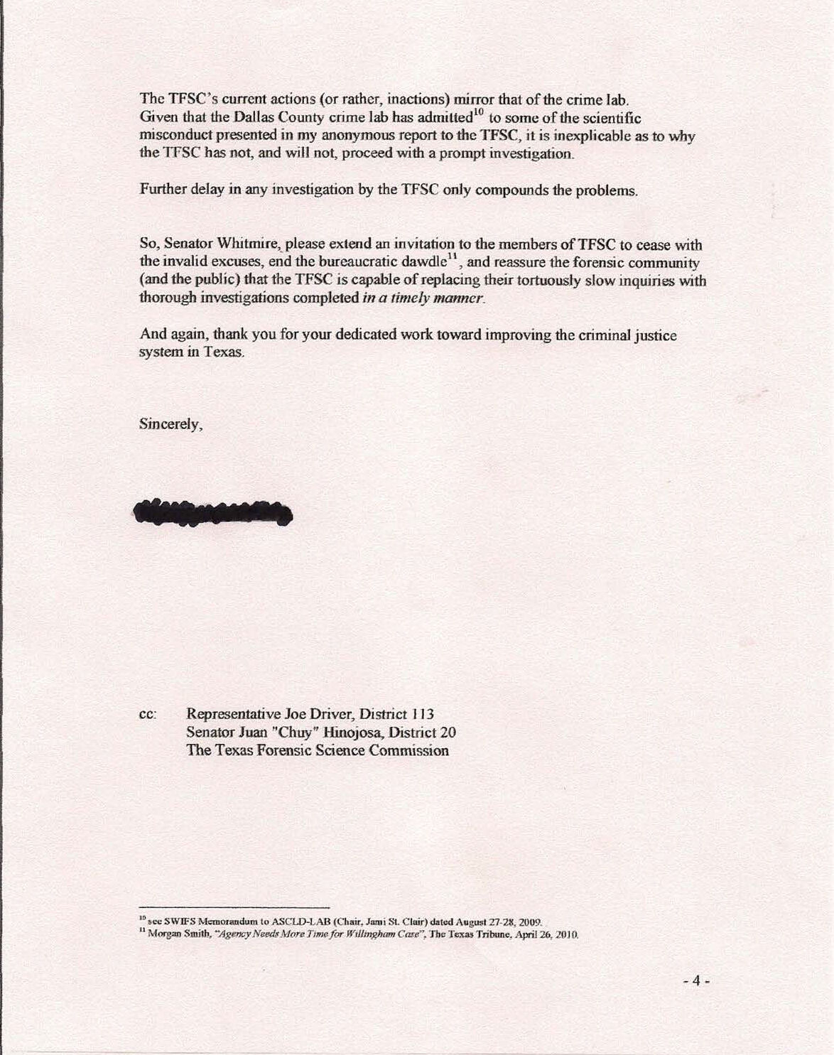 Letter of Disagreement – Disagreement Letter